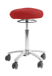 Active Air chair RED textile Silver base and gasspring